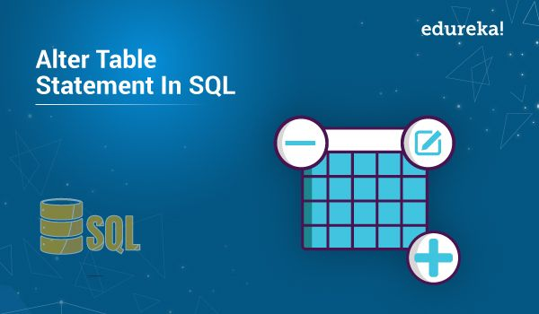 alter table statement in SQL coding