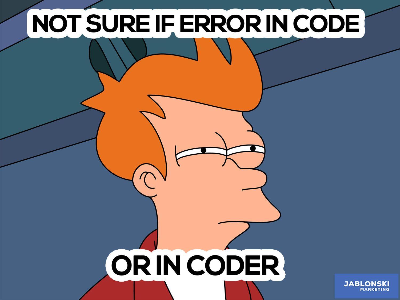 cartoon not sure if error in code or in coder