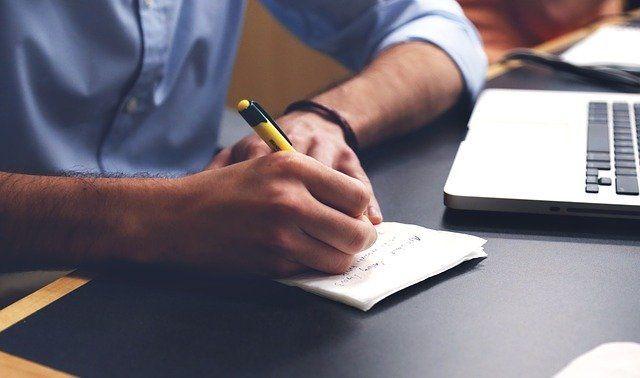 Take minutes hand writing
