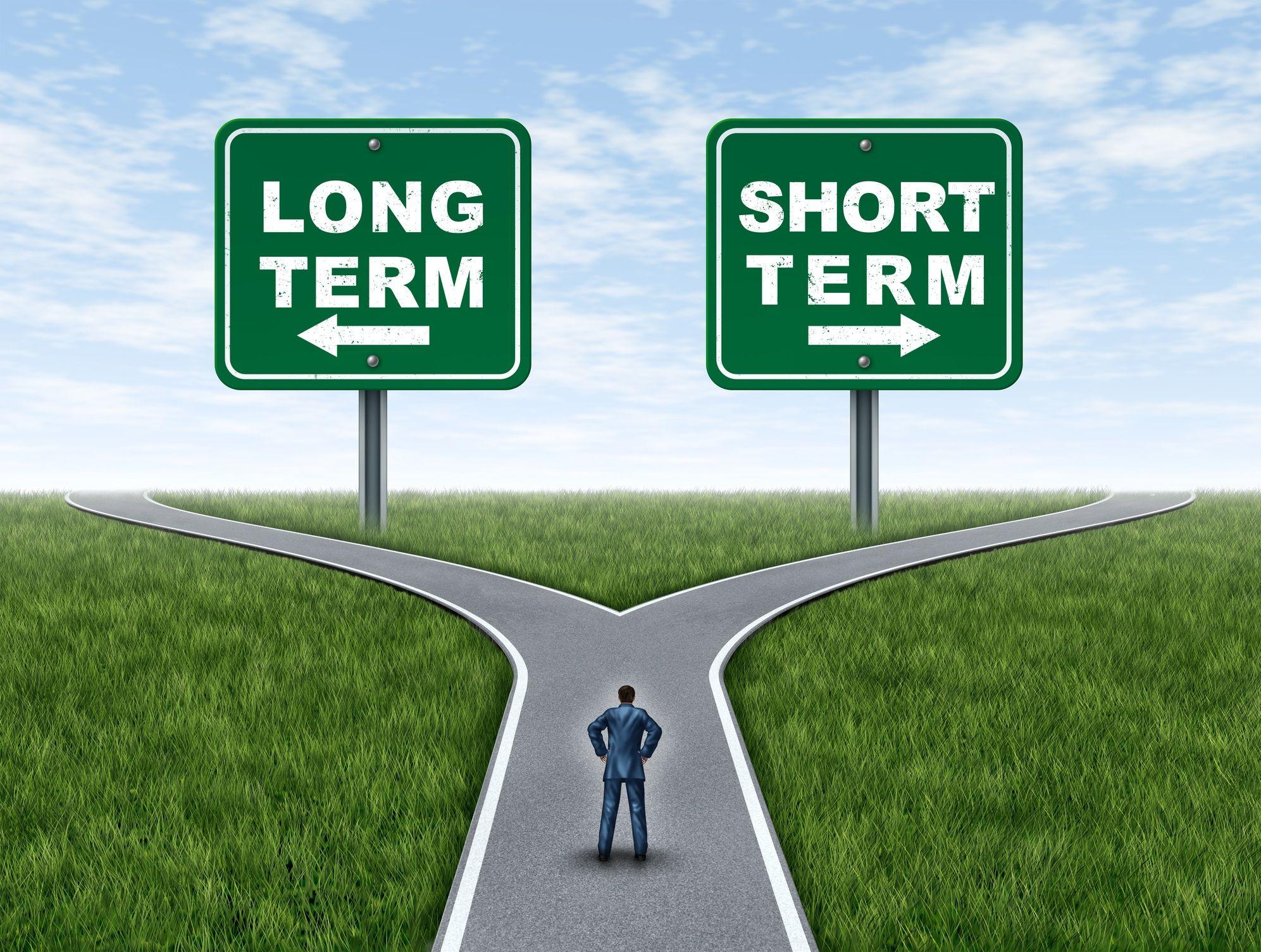 Long term short term path cartoon